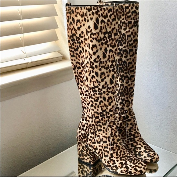 c1ca9748a93 Sam Edelman Thora Leopard Knee High Boot